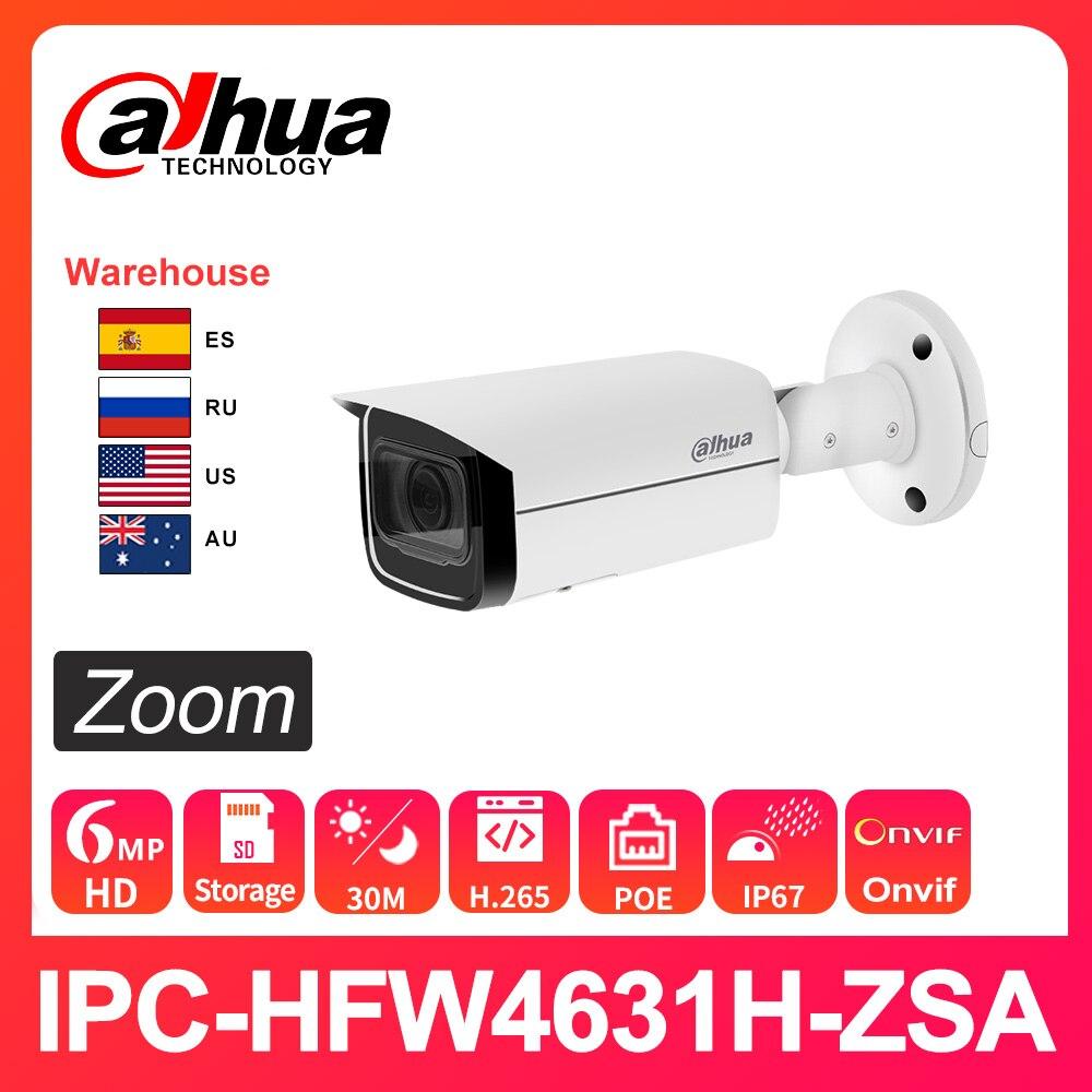 Dahua caméra IP sécurité IPC-HFW4631H-ZSA HD 6MP 2.7-13.5mm 5X Zoom Vision nocturne IR60M intégré micro PoE H.265 IP67 IK10 extérieur