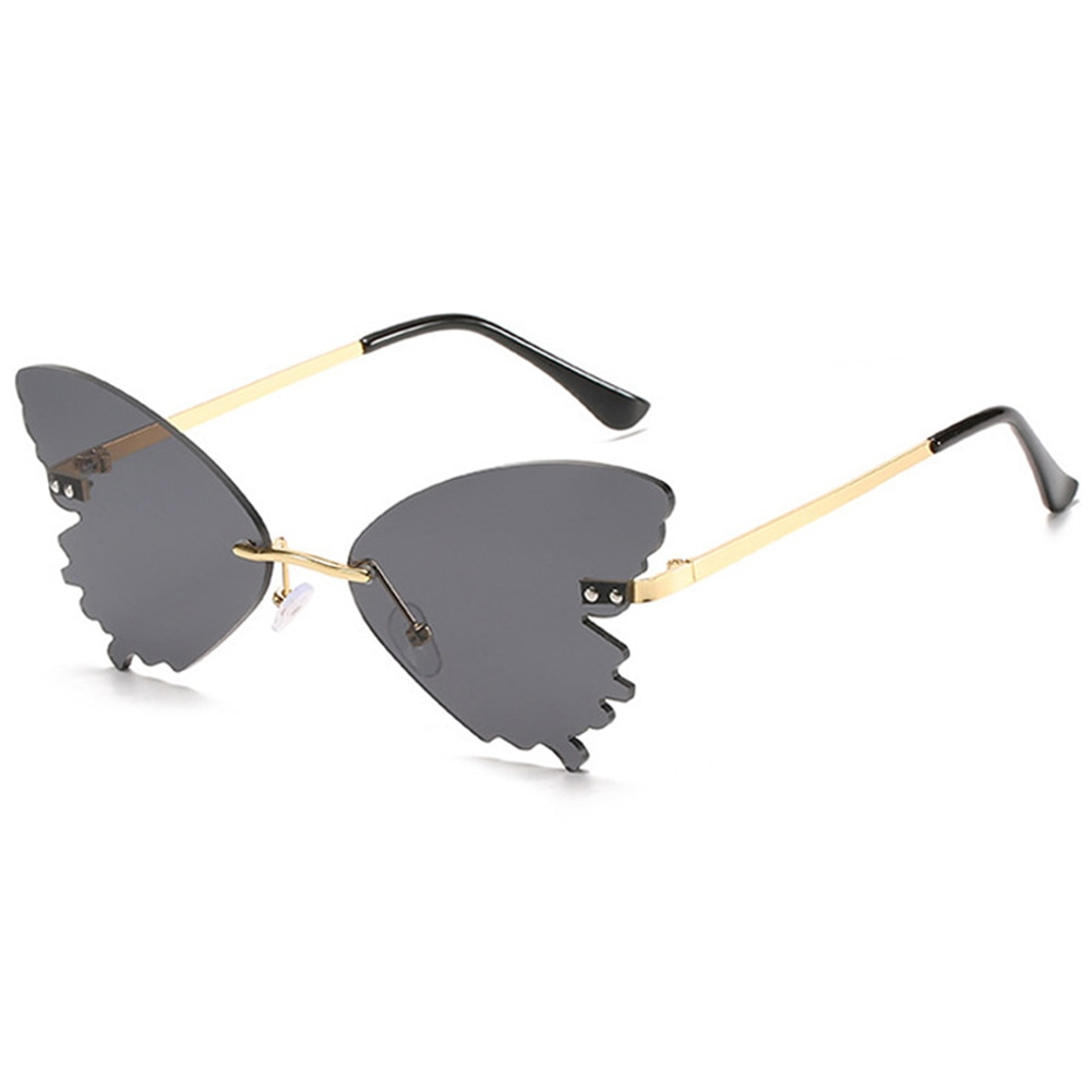 Luxury Special  Vintage Fashion Sunglasses Female Fashion Butterfly Modeling Rimless Sun Glasses Oce