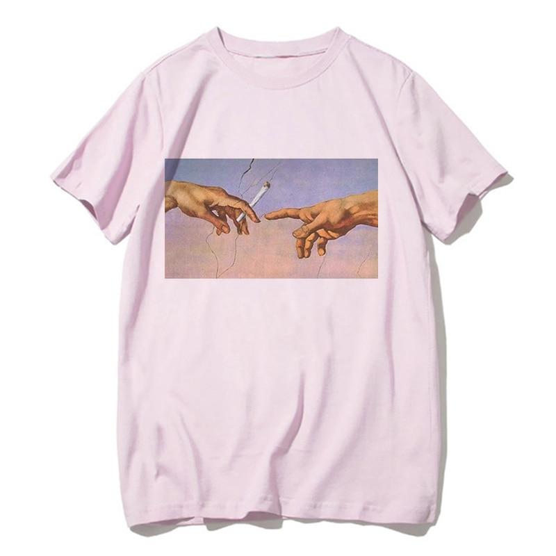 Vaporwave, футболка, Harajuk, топы, футболка, Sad Girl, ретро, аниме, для мужчин, эстетический микеланжело, японский мужской/wo, Мужская футболка, Сексуальная футболка