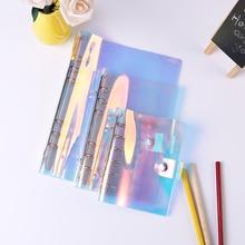 6 gaten PVC Bindmiddel Map A5 A6 A7 Bestand Cover Voor Journal Note Boek Dagboek Notepad Planner Agenda School Kantoor levert