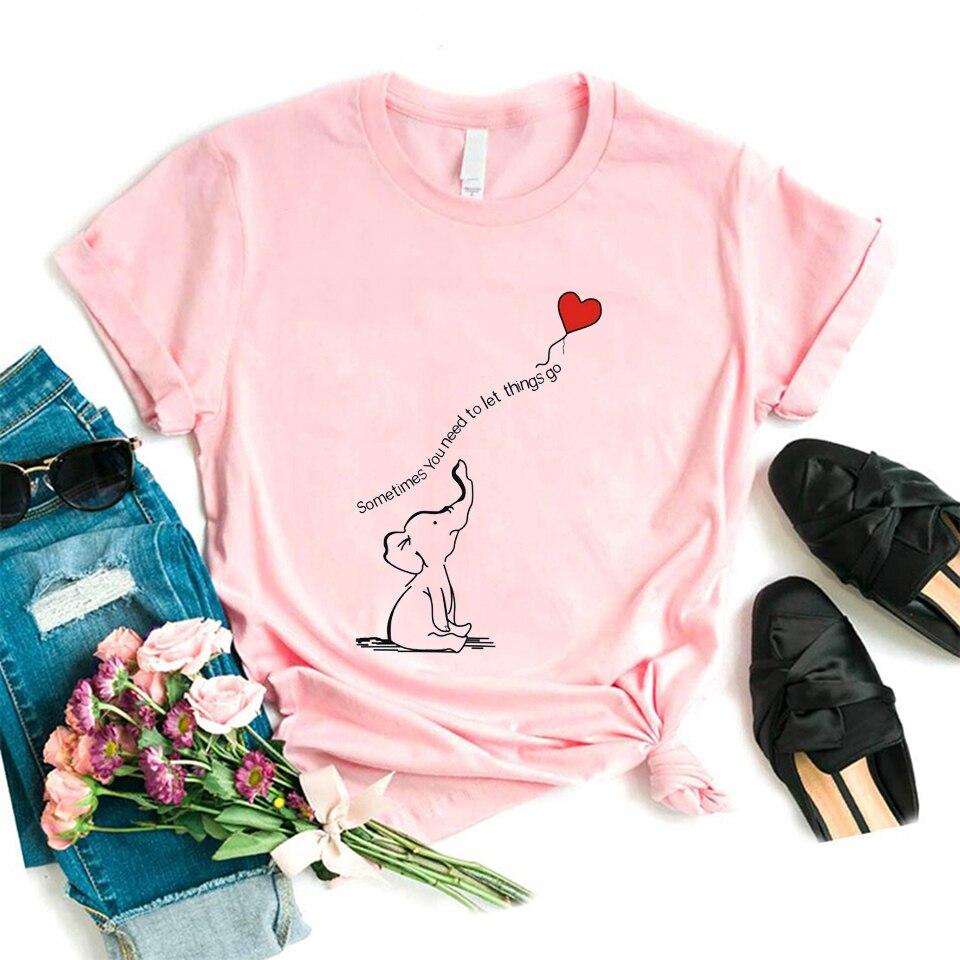 Ropa de Mujer 2020, camiseta de Primavera Verano, Camisetas divertidas de elefante...