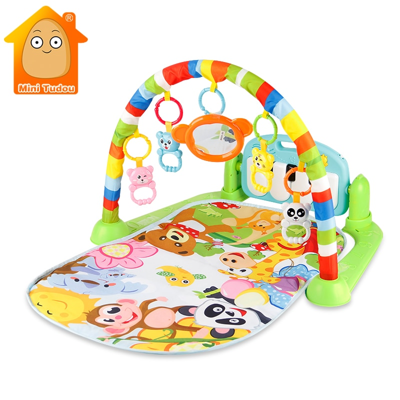 soft baby play mat baby activity gym educational toys kids carpet children playmat newborn babygym mat with frame Baby Gym Tapis Puzzles Mat Educational Rack Toys Baby Music Play Mat With Piano Keyboard Infant Fitness Carpet Gift For Kids