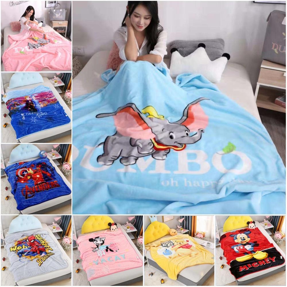 ديزني دامبو ميكي ماوس سميكة أفخم بطانية رمي للأطفال على السرير أريكة الأريكة 150x200 سنتيمتر سبايدرمان المفرش عيد الميلاد هدايا