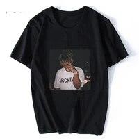juice wrld black tshirt men gothic rip t shirt hiphop xxxtentacion 999 oversize streetwear harajuku rest in peace legend t shirt