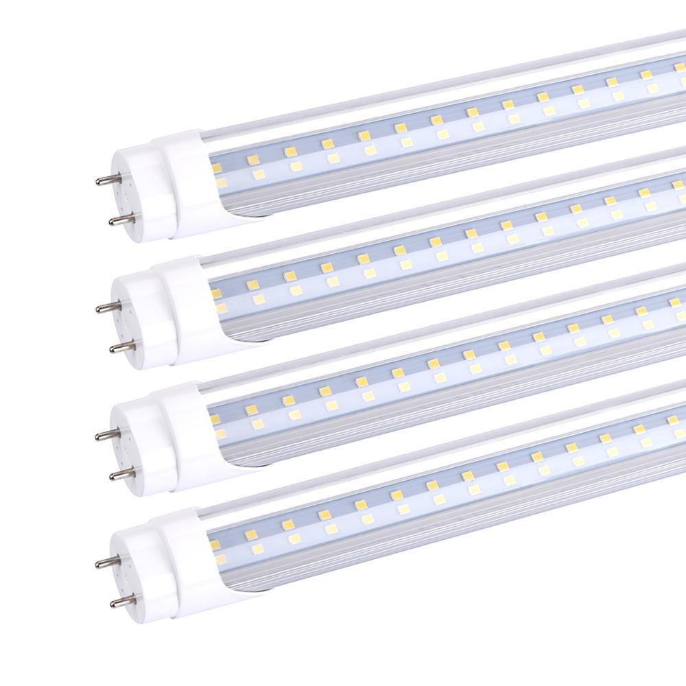 T8 tubos de luz LED 4ft 1,2 M 28W 18W 22W AC85-265V Bombilla LED T8 1200mm 4 pie 2835 iluminación LED SMD 4 pies tubo fluorescente