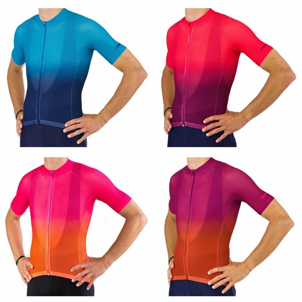 Full mesh jersey cycling pro transpirable verano Go mtb racing clothing top MTB Fade short sleeve Ciclismo Bicicleta Sportswear