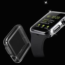 Étui protecteur Transparent tout compris pour Apple Watch SE 6 5 4 40mm 44mm 360 Transparent couvercle complet pour iwatch 3 2 1 38mm 42mm