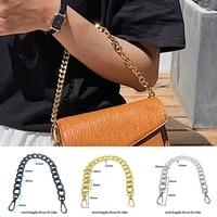thick handbag strap replacement mental bag handle short shoulder bag strap aluminum chain bag belt diy handles accessory
