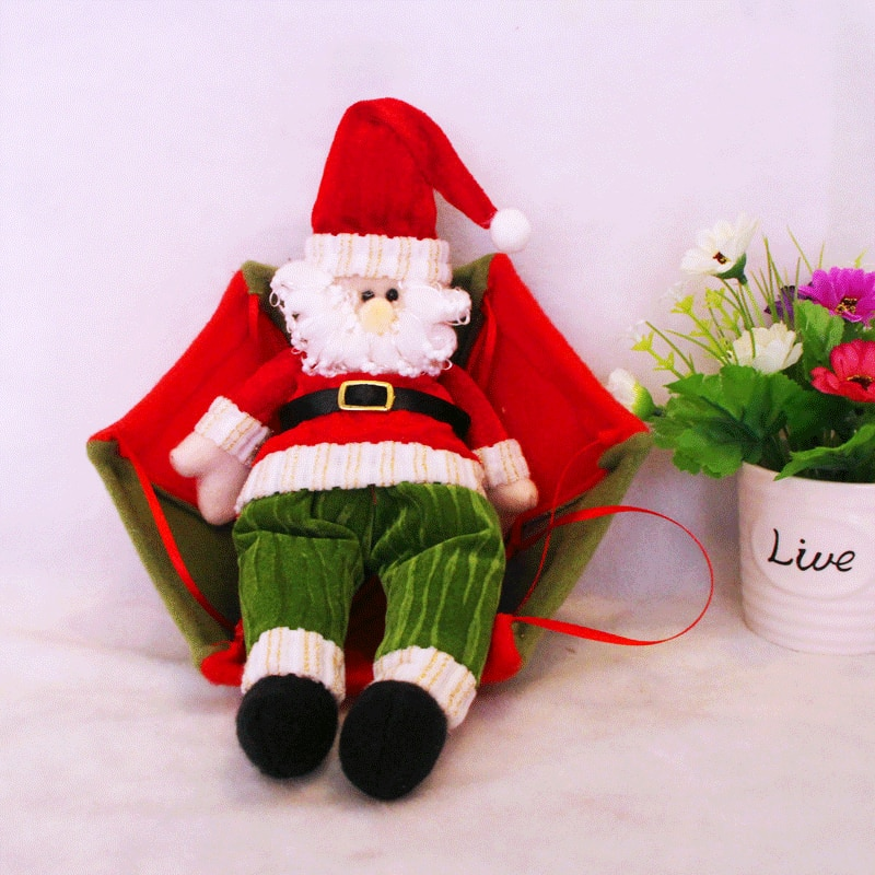 Christmas Snowman Old Man Parachute Decoration Home Tree Decorations Festival Gift Ornaments Supplies