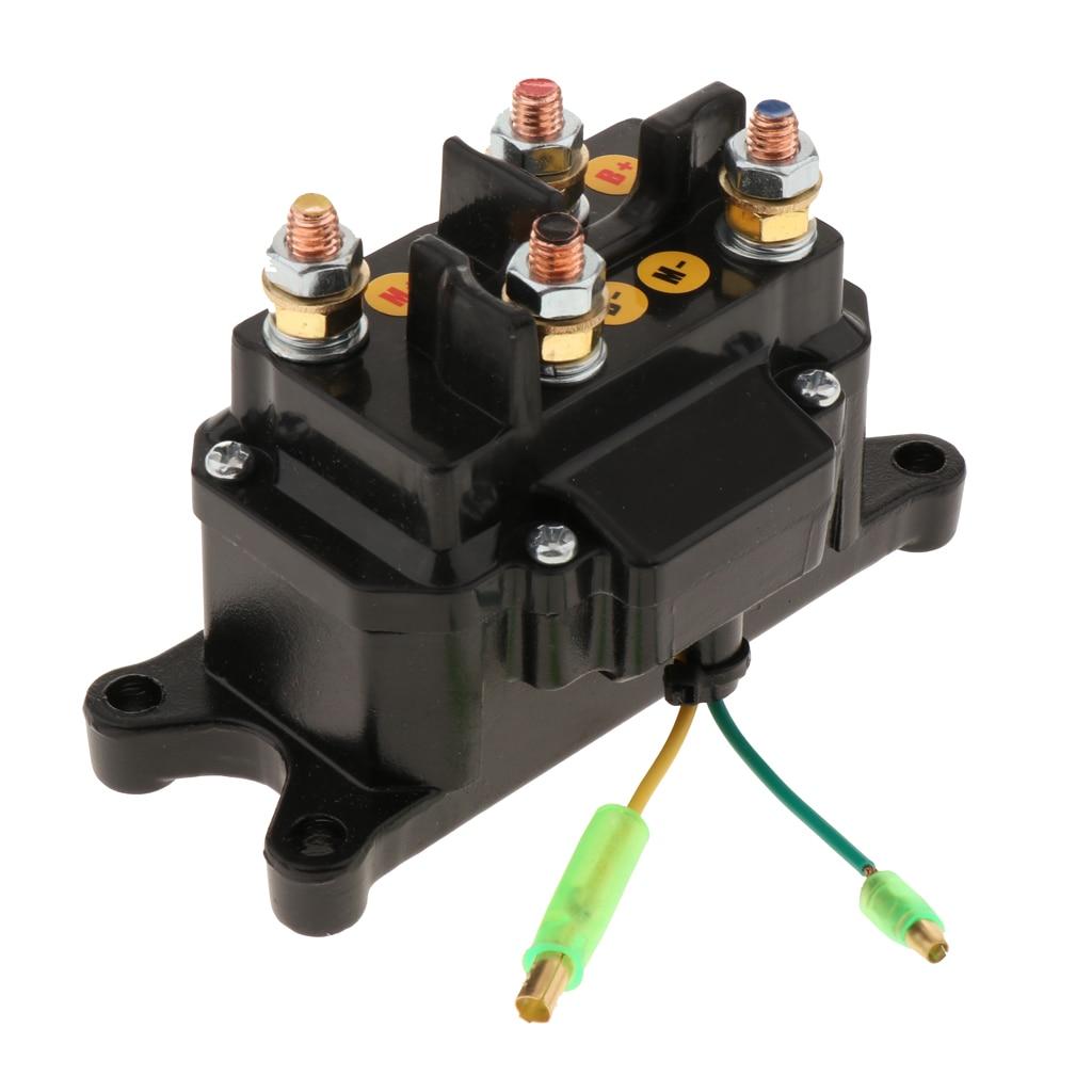 Универсальный металлический сменный соленоид для лебедки 250 А для электрической лебедки ATV UTV Black