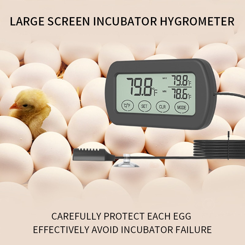 Termómetro higrómetro Monitor indicador incubadora Max Min temperatura humedad pantalla LCD