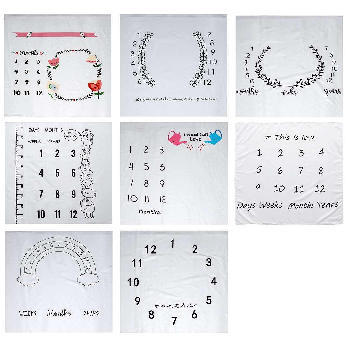 Alfombra de juegos para niños INS, alfombra para gatear para niños, Alfombra de juegos con números y calendario, Alfombra de juegos infantil, decoración para habitación, atrezos para fotografía de bebés