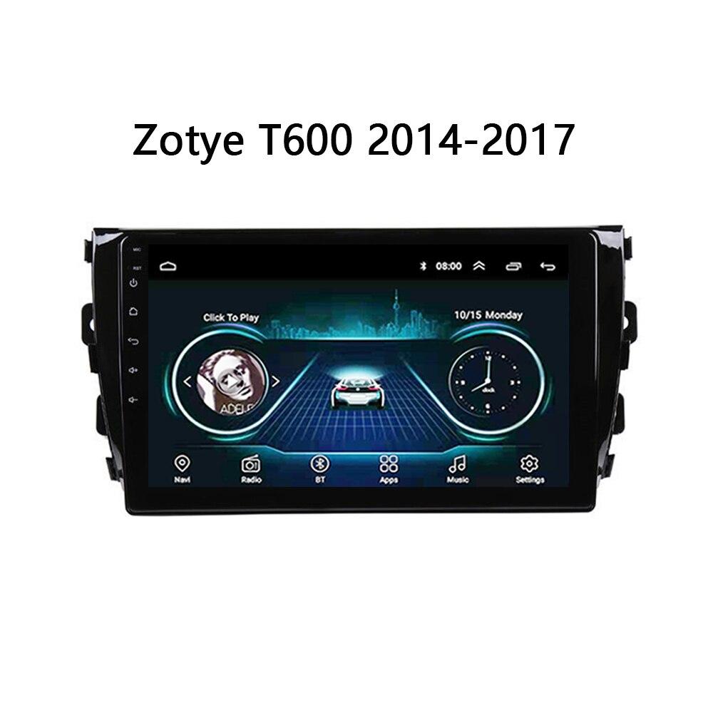 Радио плеер для Zotye T600 в автомобильный мультимедийный плеер 2014 2015 2016 2017 2018 gps навигация и головное устройство стерео carplay SWC FM