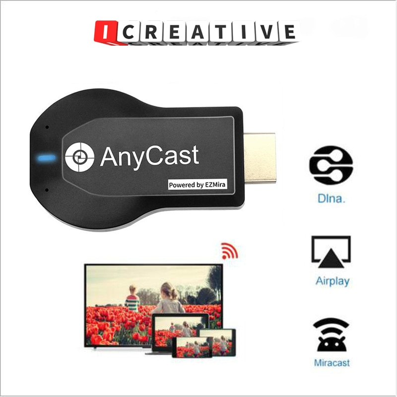 ICREATIVE NEW AnyCast M9 Plus 1080P Wireless TV Stick WiFi Display Dongle HDMI Receiver Media TV Sti