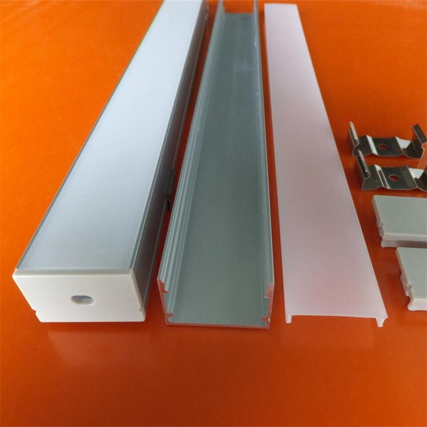 20-50M/LOT Free Shipping High Quality Aluminum Profile with Cover and End Caps and Clips for LED Strips and Linear Light
