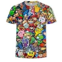 new fashion mario bros 3d printed t shirt o neck short sleeved mens t shirt hip hop anime t shirt womens t shirt streetwear