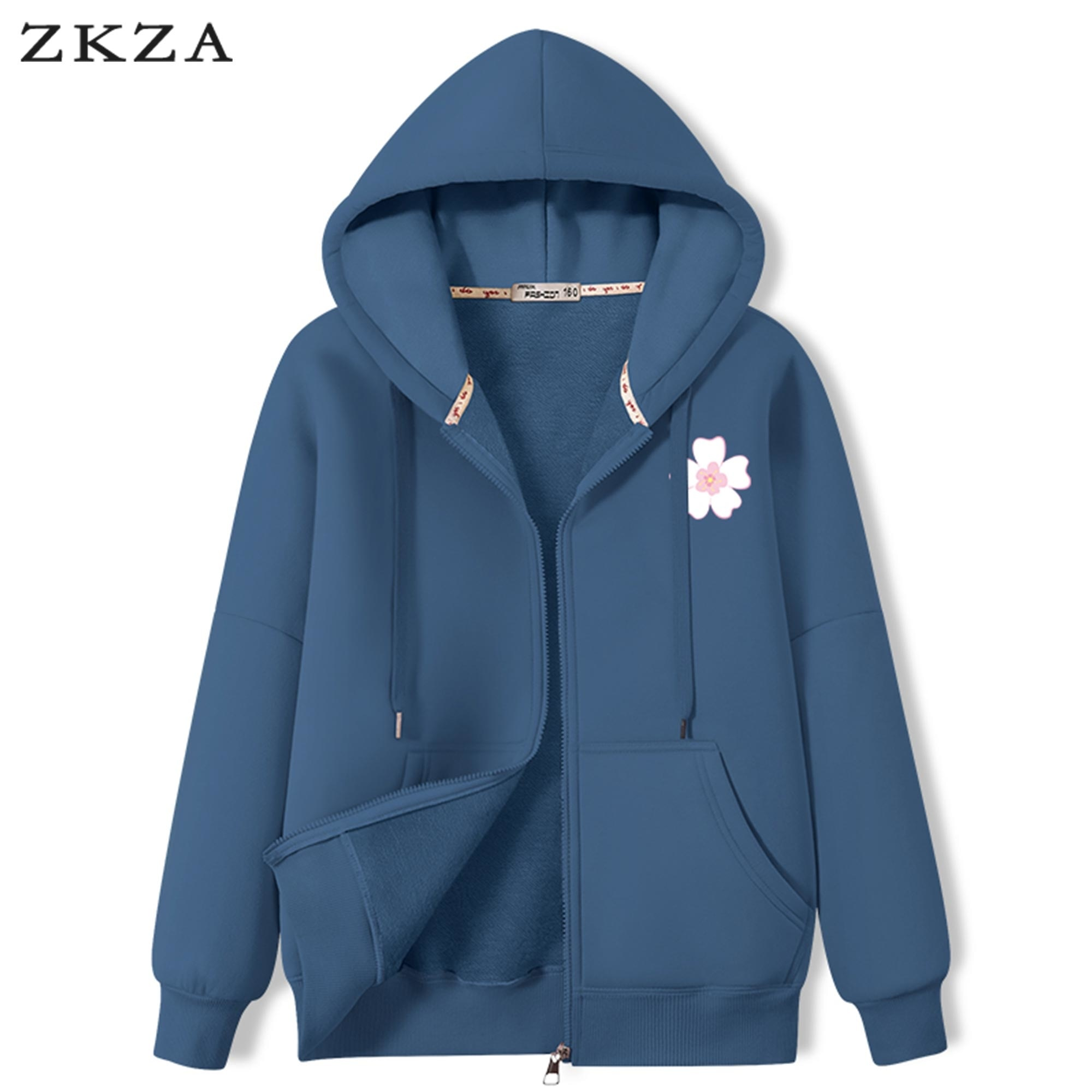 Zip-up Women Korean Style Hoodies 2021 New Autumn Thick  Casual Younger Fashion Girls Top Vintage So