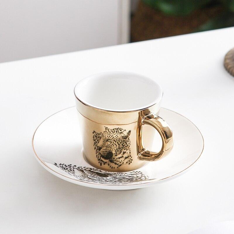 Креативная леопардовая анаморфная чашка зеркальная отражающая чашка Тигровая кружка с зеброй Luycho кофейный чайный набор с подстаканником ...