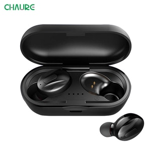 CHAURE Bass-Stereo TWS Bluetooth V5.0 Earphones Earbud Wireless Headphones Noise-Reduction Gaming Headset 3D Dual-Microphone