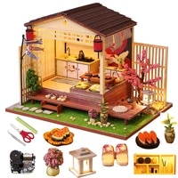 diy miniature dollhouse kit doll house furniture japanese style assembled model kids toys christmas gift wooden house for adult