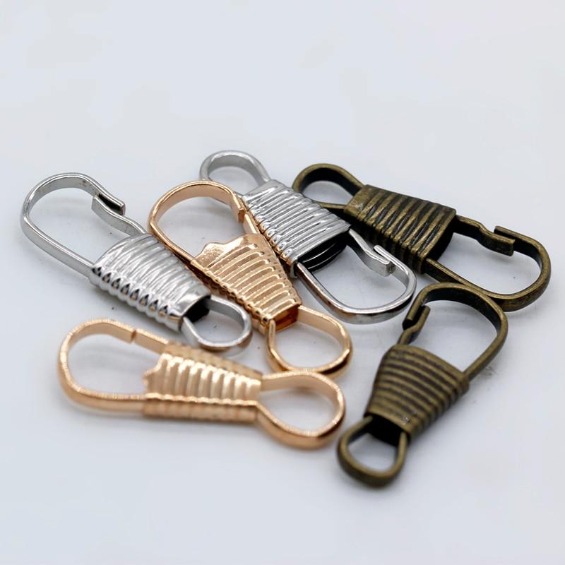 LLavero de cierre de langosta 20p 9x25mm chapado en oro plateado a rayas, llavero de coche, cadena de perro, cierre de cinturón, Clip, gancho de cordón de bolso