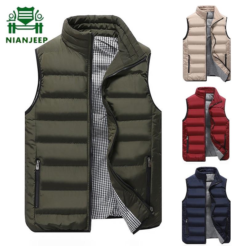Marca casual colete jaqueta masculina outono quente sem mangas jaqueta masculina 10 cores leve colete masculino plus size veste homme