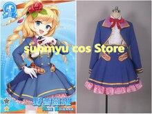 Freies Verschiffen! Grimoire ~ Shiritsu Grimoire Mahou Gakuen ~ Hime Noibara Uniform Cosplay Kostüm, Nach Größe Halloween Großhandel