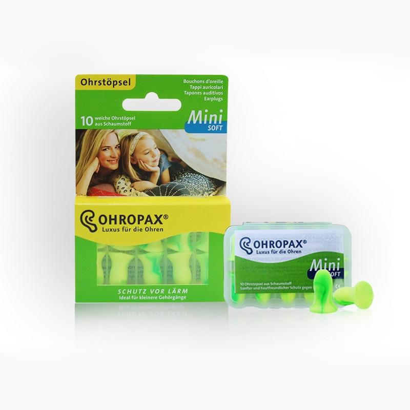 5 Pairs Ohropax Mini Soft Earplugs Washable Foam Ear Plugs Sleeping Noise Reduction Earplugs for Women Child good sleep helper