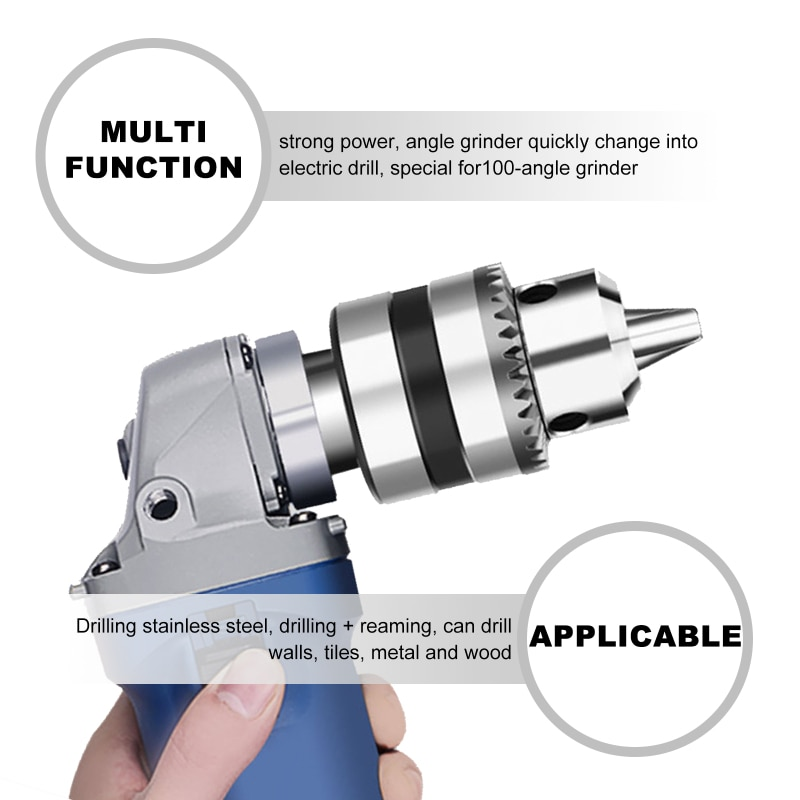 Type 100 Angle Grinder Is Converted Into An Hand Electric Drill Adapter Connector Chuck Clamping Power Tool Special Accessories
