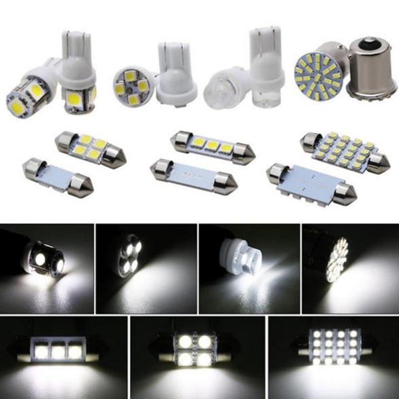 14 Pçs/set Car LED Interior Package Para T10 36mm Mapa Dome Matrícula Luzes Kit