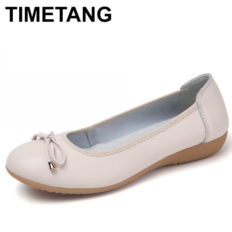 TIMETANGnew mujeres bailarinas Zapatos de color sólido Mujer Primavera Verano casual señora Zapatos Mujer