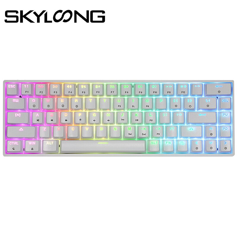 SKYLOONG-لوحة مفاتيح ألعاب ميكانيكية بصرية ، قابلة للتبديل ، قابلة للبرمجة ، RGB ، سلكية ، ABS ، GK61 ، للكمبيوتر الشخصي ، WIN