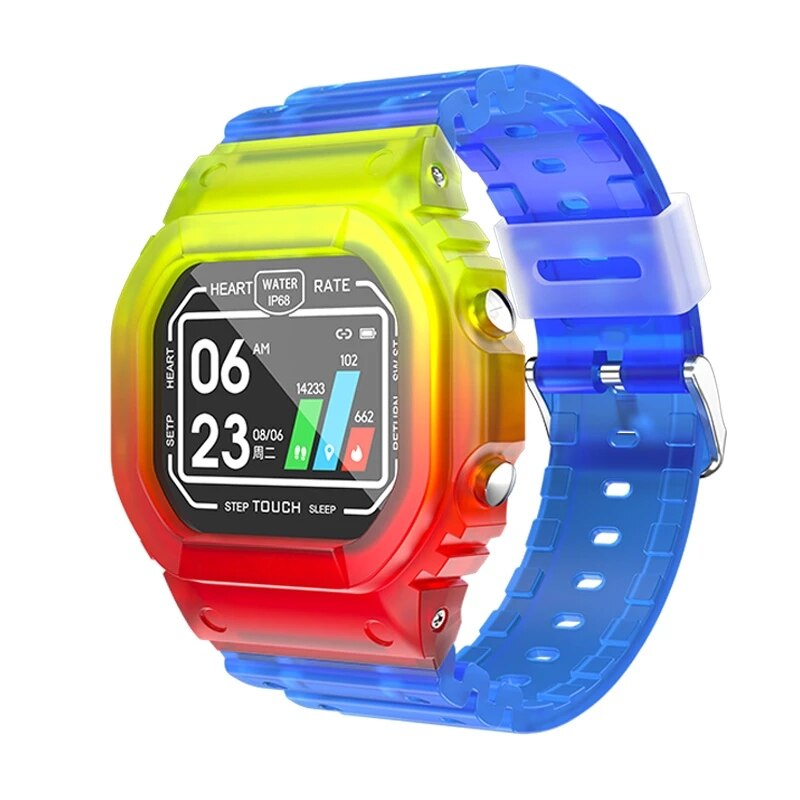 K16 بلوتوث ساعة ذكية اللياقة البدنية القلب معدل ضغط الدم حزام شاشة IP68 الرياضة للماء ساعة ذكية لنظام تشغيل الأندرويد الروبوت