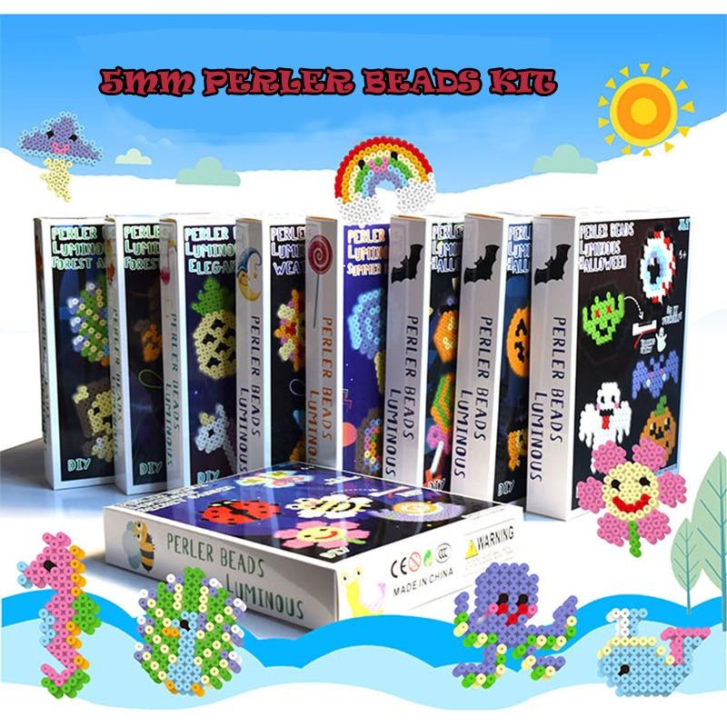 3000pcs bag water stick diy magic beads ball aqua jouets perler pegboard hama pixels magic beads jigsaw puzzle educational toy 5mm Hama beads 5mm Luminous fuse beads Set 3D Puzzle DIY Toy for Kids hama beads pegboard Jigsaw Puzzle educational toys