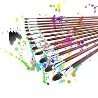 High Quality Oil Painting Brush Art Watercolor Painting Pen 13pcs Set Landscape Painting Weasel Hair Brushes Pen