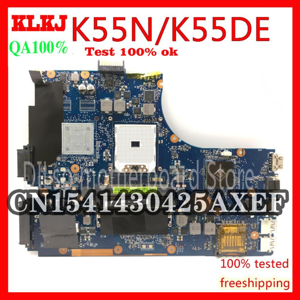 KLKJ K55N لـ ASUS K55DE K55DR K55D K55N لوحة الأم الخاصة بالكمبيوتر المحمول REV2.0 اللوحة الرئيسية الأصلية اختبار العمل 100%