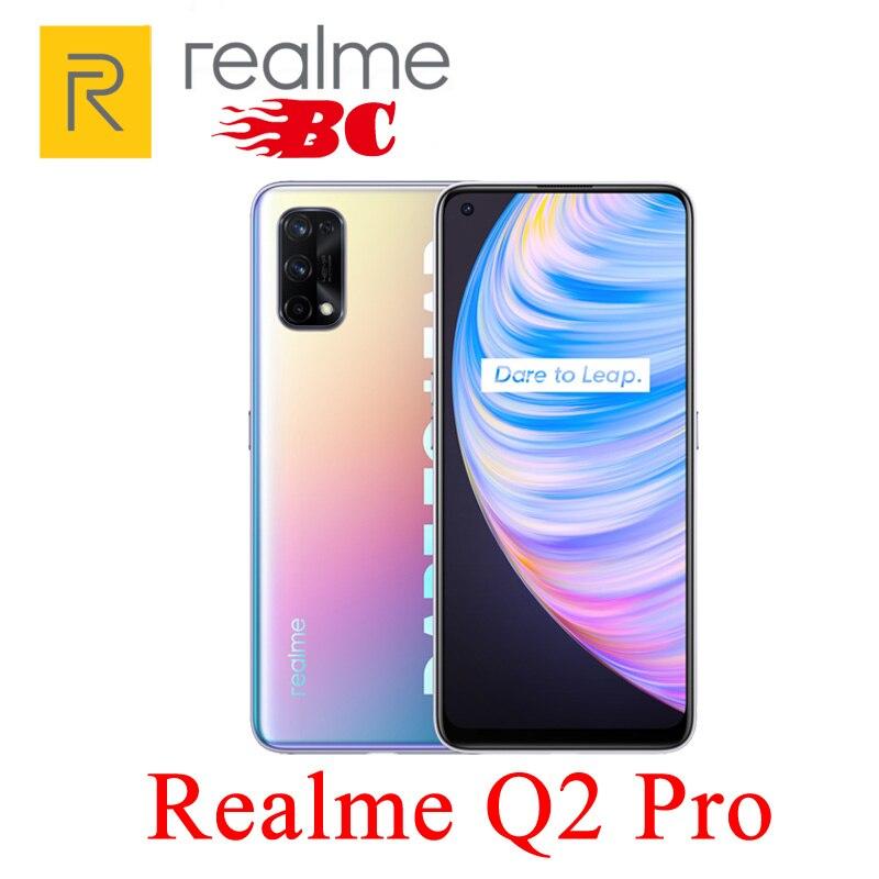Оригинальный Новый Realme Q2 Pro, 5G мобильный телефон, 6,4 дюйм Восьмиядерный 48MP Quad Camera, быстрое зарядное устройство 65 Вт, быстрая доставка 4300 мАч