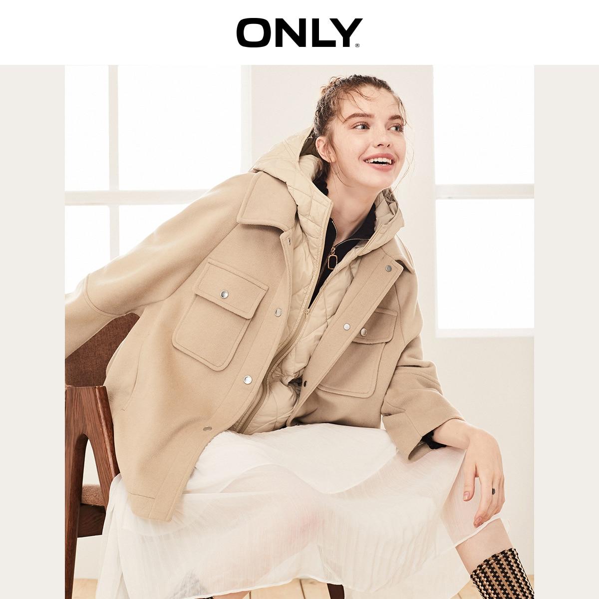 Только осенне-зимнее женское Шерстяное Пальто из двух предметов   11934T507