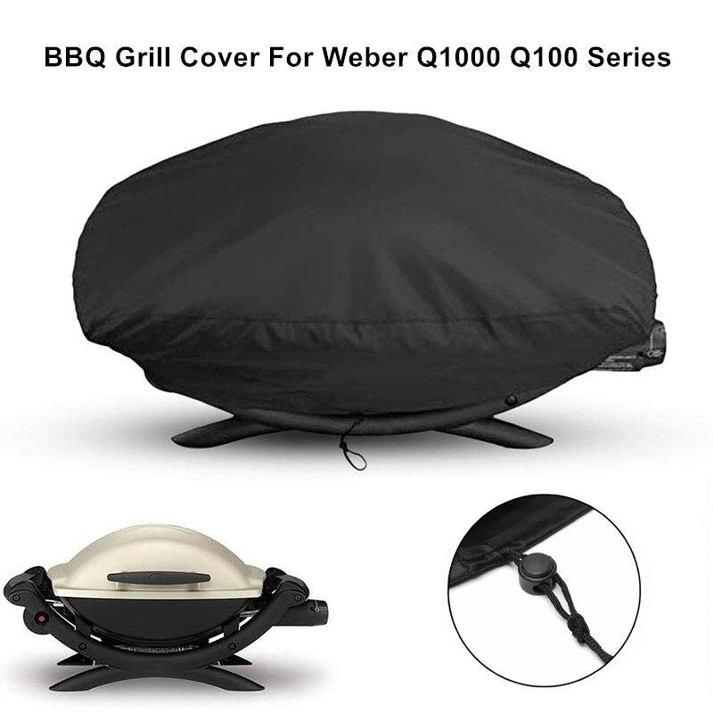 210D Oxford Doek Bbq Grill Waterdichte Stofkap Voor Q100/1000 Serie Weber 7110 Bbq Grill 67x44x32cm
