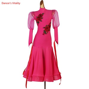 Women Ballroom Dance Dress Customize Adult Child Dancing Clothing Rumba Profession Performance Dresses Women Dance Wear