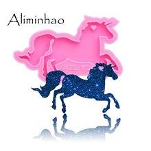 DY0151 Shiny Pegasus Unicorn Silicone Molds For DIY Truck key ring horse epoxy resin Mold Craft custom keychain