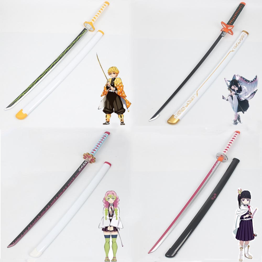 Demon Slayer Kimetsu No Yaiba косплей реквизит Tanjirou Kamado деревянный меч оружие реквизит для комиксов вечерние парик для Хэллоуина