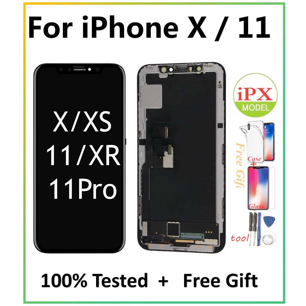 بانتيلا شاشة LCD لايفون X 11 شاشة عرض OLED LCD محول الأرقام الجمعية استبدال عرض لايفونيكس iPhone11 LCD مع هدية