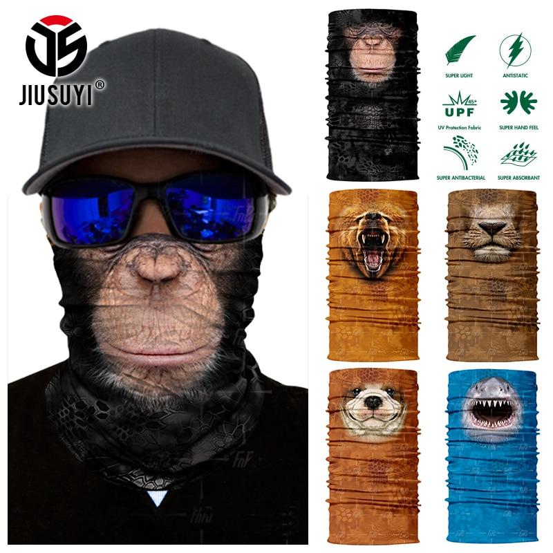Sem costura magia bandana animal macaco tubarão pescoço mais quente tubo escudo gaiter cachecol rosto escudo bandana snowboard bicicleta headwear
