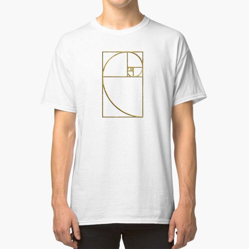 Cociente dorado, espiral de Fibonacci sagrado, camiseta dorada, secuencia media, número matemático, Geometría, Álgebra, Ratio Geek dorado