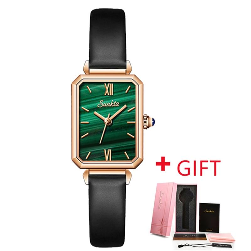 relogio feminino SUNKTA Fashion Unique Square Design Watch lady Crystal Top Brand Luxury Waterproof Women's Quartz Wristwatches enlarge