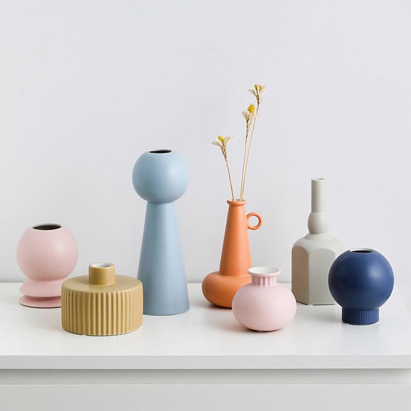 Vasos de Cerâmica Decoração para Casa Morandi Flor Vaso Cesta Mesa Plantas Bonsai Arranjo Recipiente aa