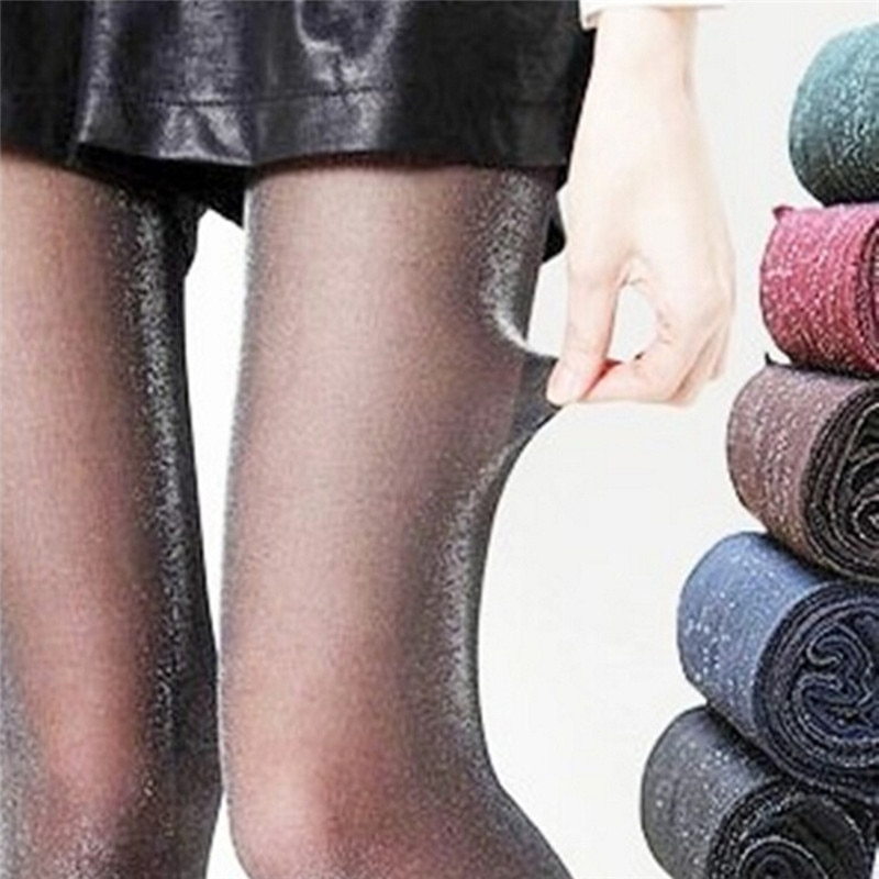 Fashion Women Girls Silver Color Tights Lady Sexy Anti Hook Stockings Female High Quality Shiny Pantyhose