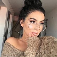 Hot Classic Clear Glasses Gold Frame Vintage Glasses Sunglasses Women Men Optical Aviation Eyeglasse