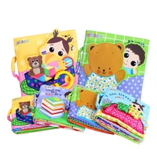 Cute Cartoon Enlightenment Cognition Baby Cloth Book Bebes Toys Animal Learning Education Unfolding